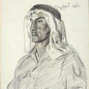 Farrier Sergeant Faris el Beini © IWM (Art.IWM ART LD 3085)